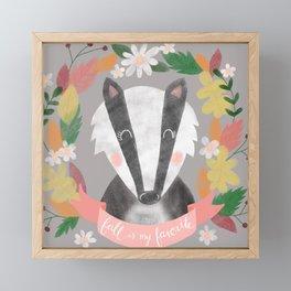 Fall is my Favorite Badger Framed Mini Art Print