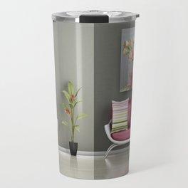 Coffee, Tea or Flowers Vignette Travel Mug