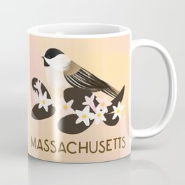 Massachusetts State Bird and Flower Coffee Mug