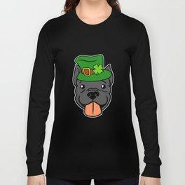 Leprechaun Pitbull - St. Patricks Day Long Sleeve T-shirt