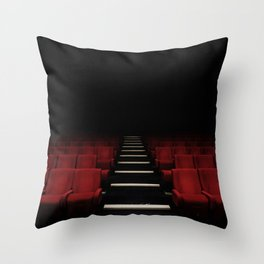 Red Theater Throw Pillow