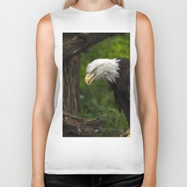 Bald Eagle Portrait Biker Tank