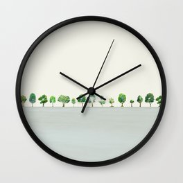A Row Of Trees Wall Clock