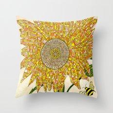 Georgia Sunflower Throw Pillow