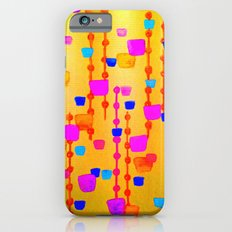 POLKA DOT MATRIX - Bright Bold Cheerful Dotty Geometric Squares Circles Abstract Watercolor Painting Slim Case iPhone 6s