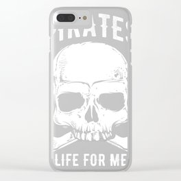 A Pirate's Life For Me design, Treasure Map Pirate Tee Clear iPhone Case