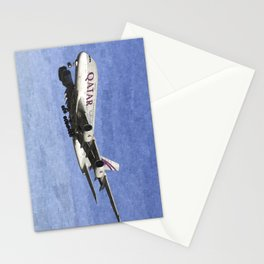 Qatar Airlines Airbus A380 Art Stationery Cards
