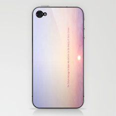 The future belongs to those who believe in the beauty of their dreams-Sunset iPhone & iPod Skin