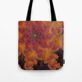 Heart of the Flame - Fractal Art Tote Bag