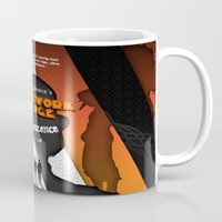 clockwork orange Mugs featuring A Clockwork Orange by Martin Woutisseth