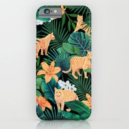 Ginger Cats in the Jungle iPhone Case