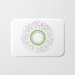 Gratitude Mandala Sun Flower Bath Mat