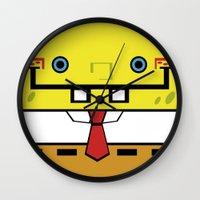 spongebob Wall Clocks featuring SpongeBob by nu boniglio