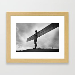 Angel of the North, Newcastle, England. Framed Art Print