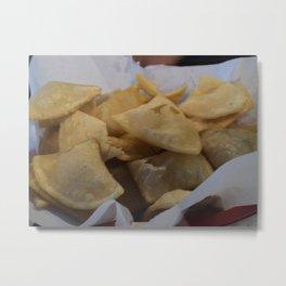 Homemade Tortilla Chips Metal Print
