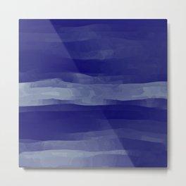 Abstract Navy Blue Sky Metal Print