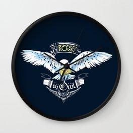 Owl Post Wall Clock