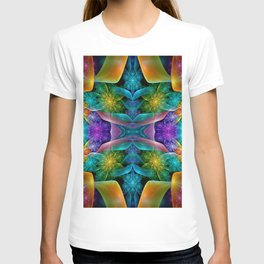 Colorful Fractal Juliascope T-shirt