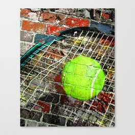 Tennis print work vs 3 Canvas Print