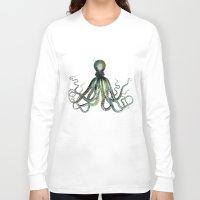 octopus Long Sleeve T-shirts featuring Octopus by LebensART