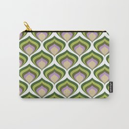 1970s retro avocado wallpaper Carry-All Pouch