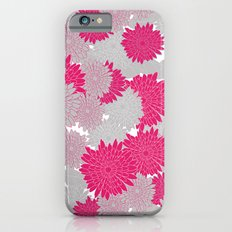 Spring Floral - hot pink and grey Slim Case iPhone 6