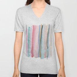 Watercolor stripe Unisex V-Neck