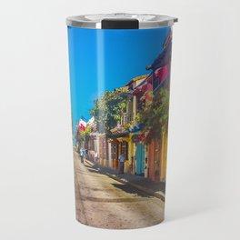 Traditional Street in Cartagena de Indias, Colombia Travel Mug