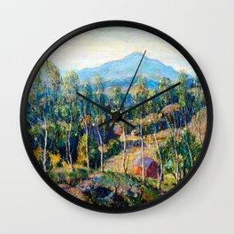 Ernest Lawson New England Birches Wall Clock