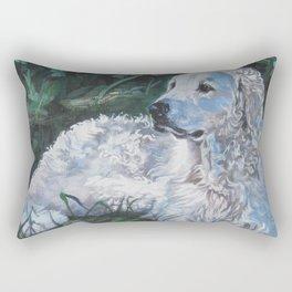 Hungarian Kuvasz dog art from an original painting by L.A.Shepard Rectangular Pillow