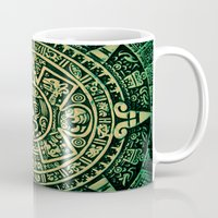 calendar Mugs featuring Mayan Calendar 2012 by Bob Pestana