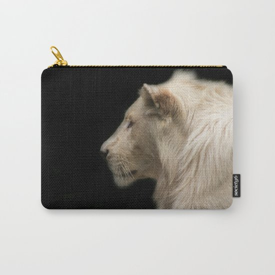 Young white lion Carry-All Pouch