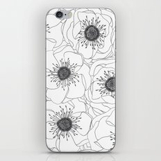 White Anemones iPhone & iPod Skin