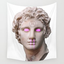 Vaporwave Bust Wall Tapestry