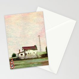Little cute house Stationery Cards