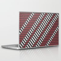 stripes Laptop & iPad Skins featuring Stripes by MissCrocodile63