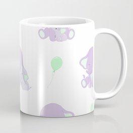 Elephants - Purple and Green Coffee Mug