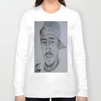 tupac Long Sleeve T-shirts featuring Tupac  by Brooke Shane