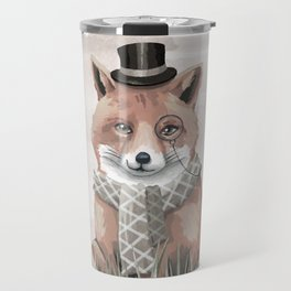 Fox in the Field Travel Mug