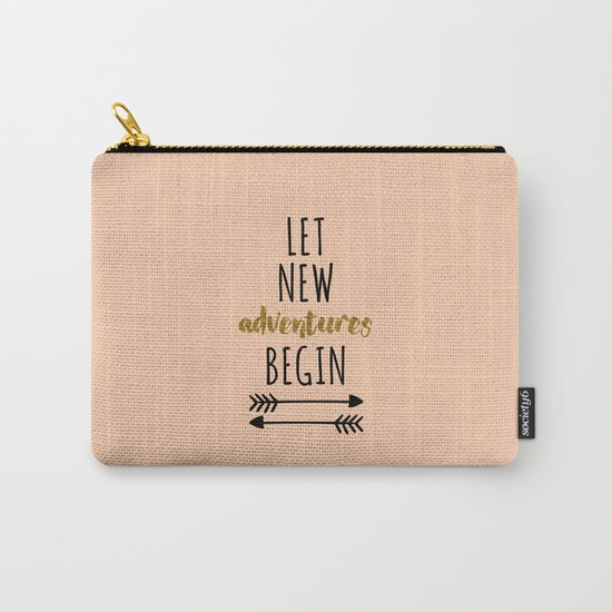 New Adventures Travel Quote Carry-All Pouch