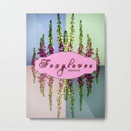 Foxglove Digitalis X4 Metal Print