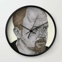 louis Wall Clocks featuring Louis CK by Andy Christofi
