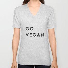 Go vegan Unisex V-Neck