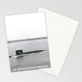 USS ABRAHAM LINCOLN (SSBN-602) Stationery Cards
