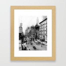 Vintage Broadway NYC Photograph (1920) Framed Art Print