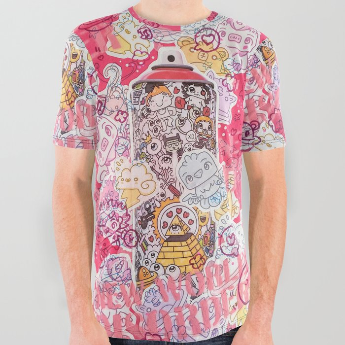 art by garbi kw All Over Graphic Tee