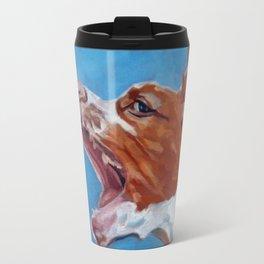 Brittany Spaniel Dog Portrait Travel Mug