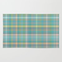 plaid Area & Throw Rugs featuring Summer plaid by DesignsByMarly