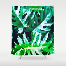 Leaves exotic Shower Curtain