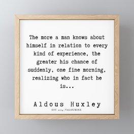 76     Aldous Huxley Quotes    190714   Framed Mini Art Print